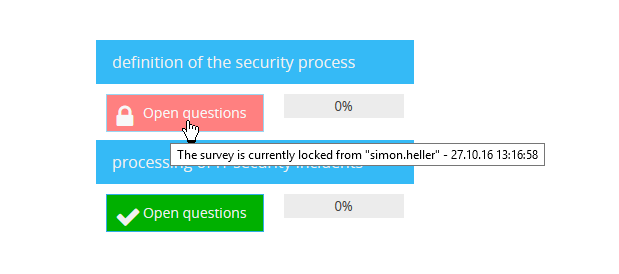 "With the option ""Singleuser editing mode"", currently edited surveys can be blocked for other users."